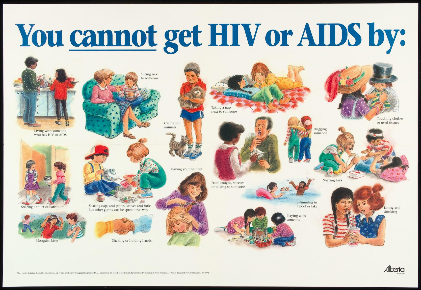 You Cannot Get Hiv Or Aids By Aids Education Posters