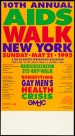 Poster of 10th Annual AIDS Walk New York