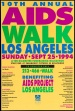 Poster of 10th Annual AIDS Walk Los Angeles.