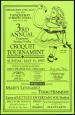 Poster of 3rd annual Tanqueray Sterling Vodka Croquet Tournament