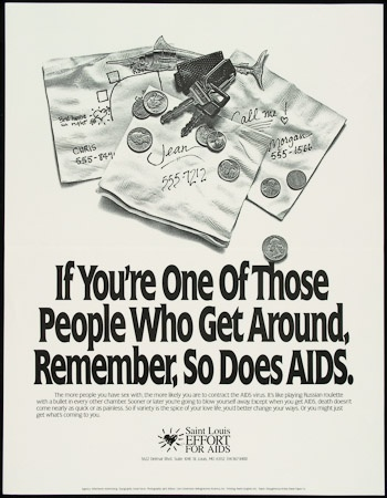 Poster of If You're One Of Those People Who Get Around, Remember, So Does AIDS.