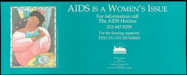 Poster of AIDS is a women's issue