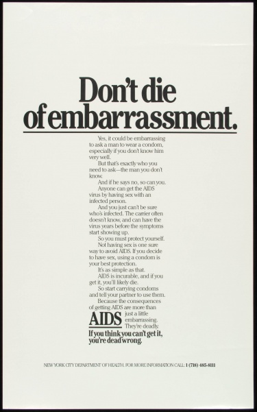 Poster of Don't die of embarrassment.
