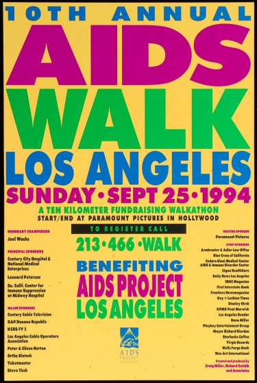 Poster of 10th Annual AIDS Walk Los Angeles