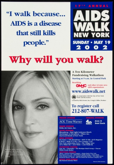 Poster of I walk because… AIDS is a disease that still kills people. Why will you walk?