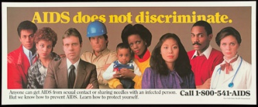 Poster of AIDS does not discriminate