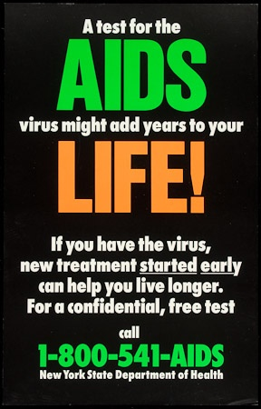Poster of Test for the AIDS virus might add years to your life!