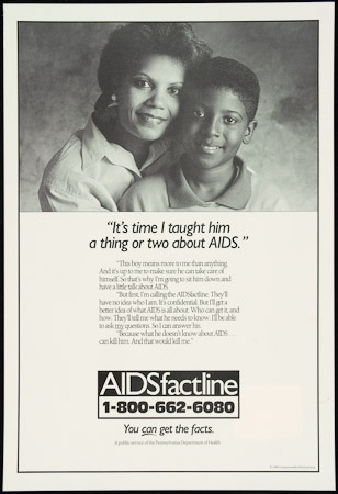 Poster of It's time I taught him a thing or two about AIDS
