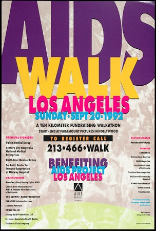 Poster of 8th Annual AIDS Walk Los Angeles