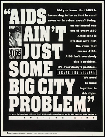 Poster of AIDS ain't just some big city problem
