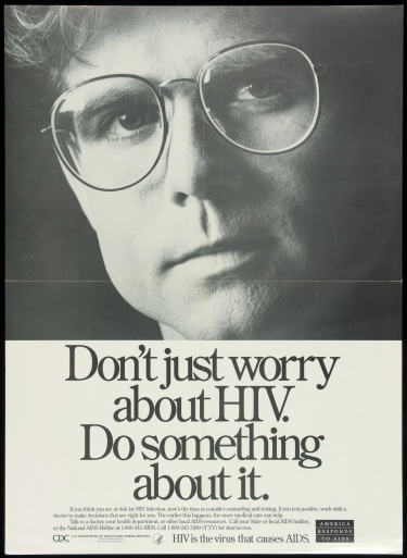 Poster of Don't just worry about HIV. Do something about it.