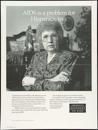 Poster of AIDS is a problem for Hispanics, too