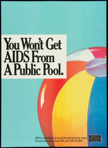 Poster of You won't get AIDS from a public pool