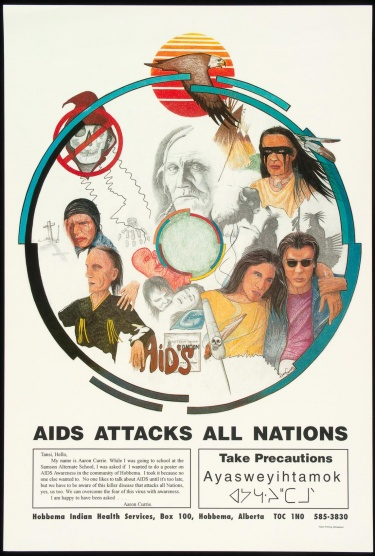 Poster of AIDS attacks all nations.