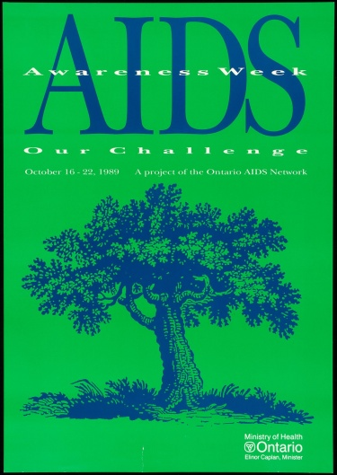 Poster of AIDS Awareness Week.  Our Challenge