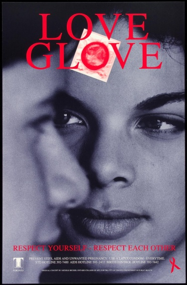 Poster of Love glove. Respect yourself. Respect each other.
