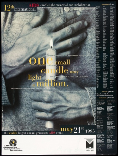 Poster of 12th International AIDS Candlelight Memorial and Mobilization