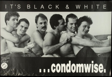 Poster of It's black and white ...condomwise.