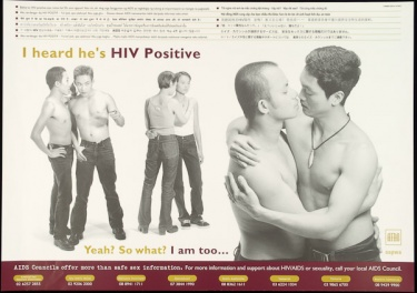 Poster of I heard he's HIV positive.