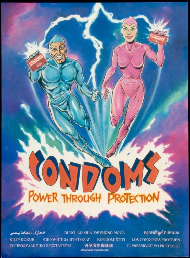 Poster of Condoms. Power through protection.