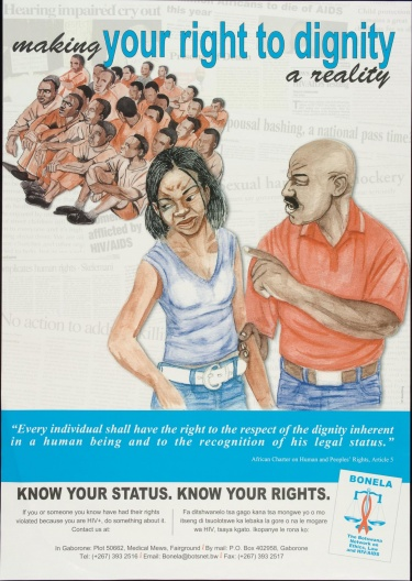 Poster of Making your right to dignity a reality.
