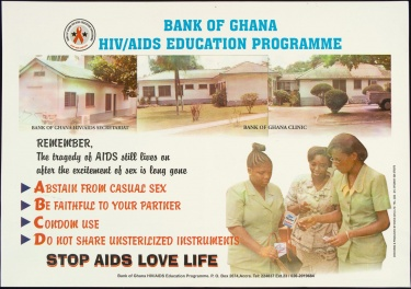 Poster of Bank of Ghana. HIV/AIDS Education Programme