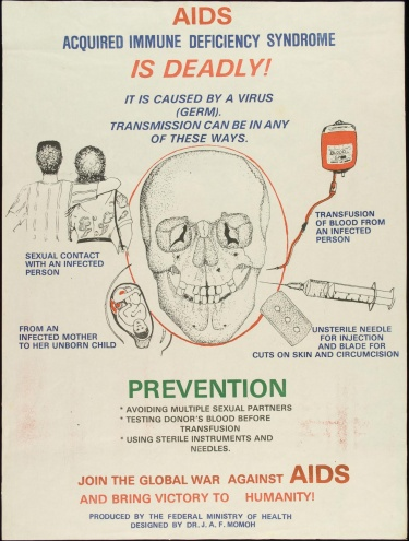 Poster of AIDS Acquired immune deficiency syndrome is deadly!