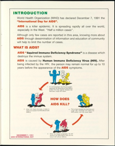 Poster of AIDS. AIDS International Day Primary Health Care