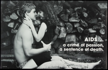 Poster of AIDS... a crime of passion, a sentence of death.