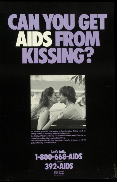 Poster of Can you get AIDS from kissing?