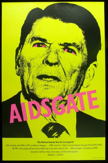 Poster of AIDSGate. This political scandal must be investigated!