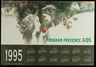 Poster of Program prevence AIDS.