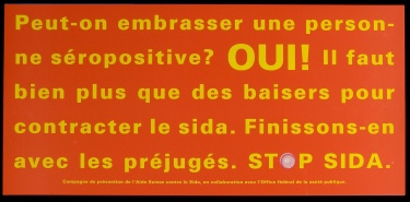 Poster of Peut-on embrasser une personne séropositive? OUI!