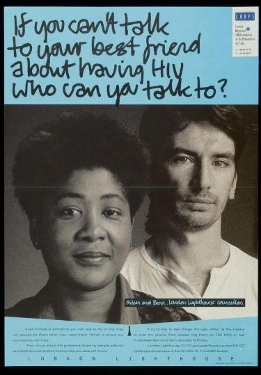 Poster of If you can't talk to your best friend about having HIV, who can you talk to?