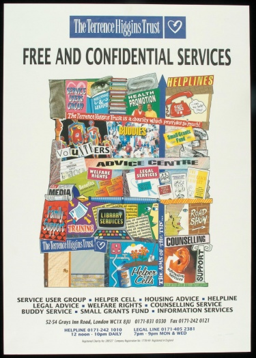 Poster of Free and confidential services.