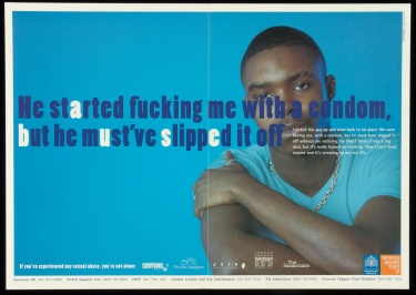 Poster of He started fucking me with a condom, but he must've slipped it off.