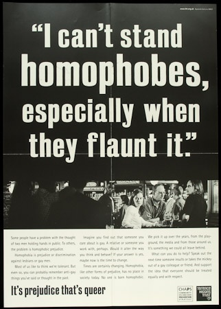 Poster of I can't stand homophobes, especially when they flaunt it