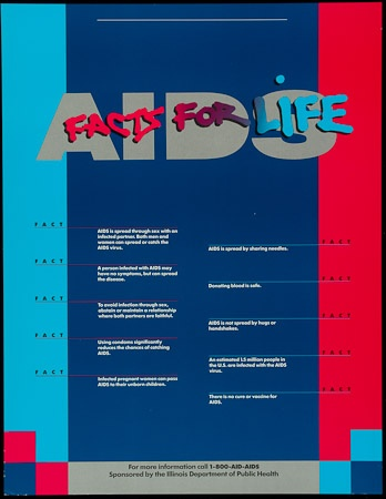 Poster of AIDS facts for life