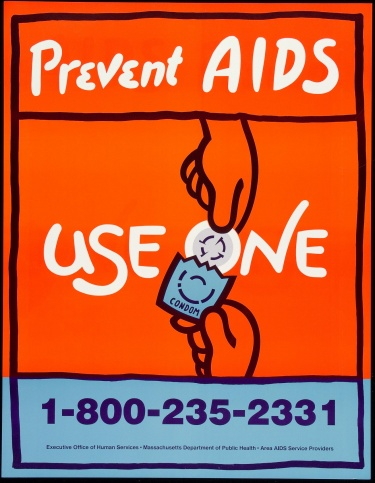 Poster of Prevent AIDS. Use one