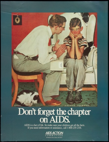 Poster of Don't forget the chapter on AIDS.