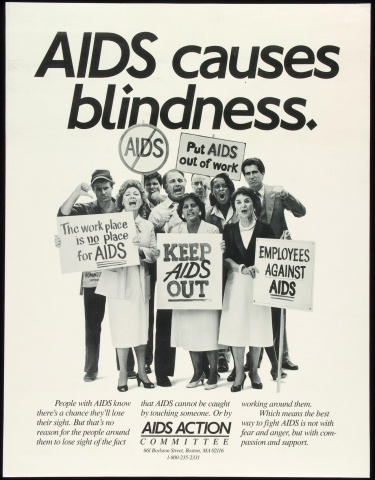 Poster of AIDS causes blindness.